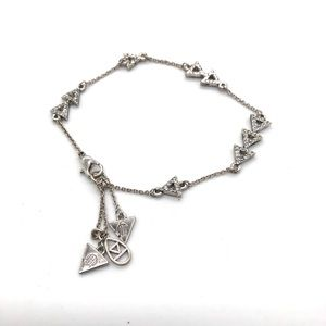 House of Harlow 1960 Silver pave w/ Arrow Charms